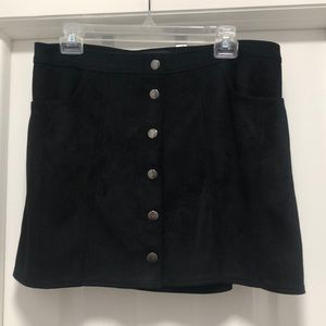 Express button up skirt